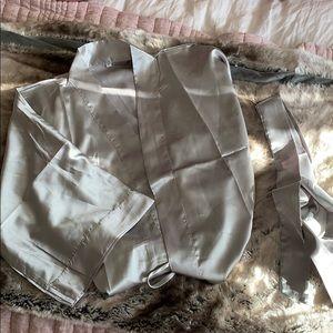 Brand new silver/gray kimono